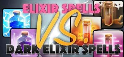 Dark Elixir Spell ato Regular Spell COC