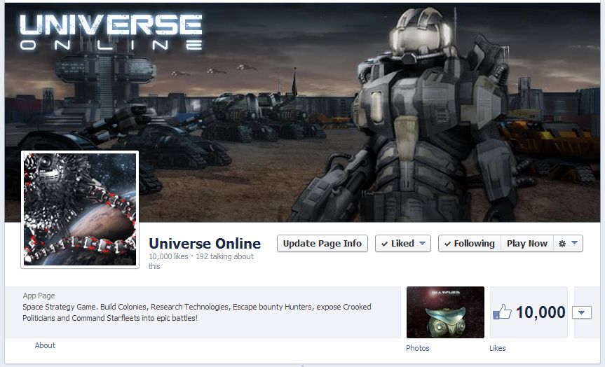 Universe Online Facebook page