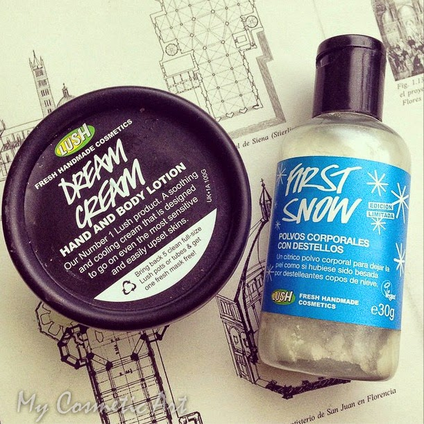 dream cream first snow lush