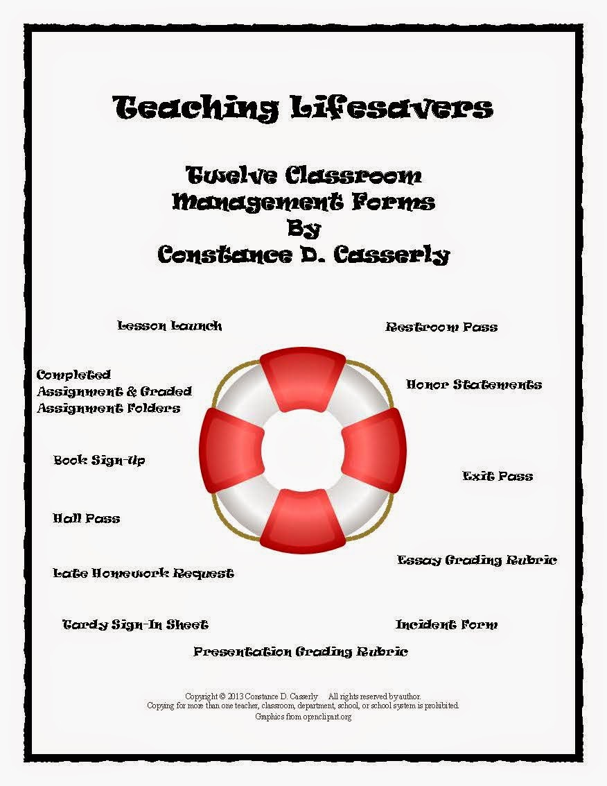Teaching Lifesavers-Twelve Classroom Management Forms