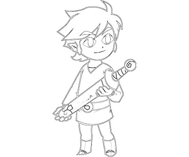 #12 Link Coloring Page