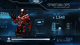 Spartan Ops Level up Screen