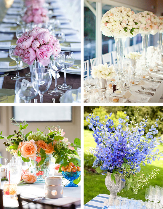 Romantic Wedding Centerpieces and Ideas
