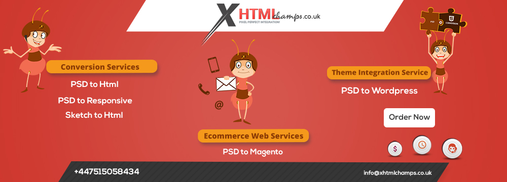 PSD to HTML Conversion Company - UK