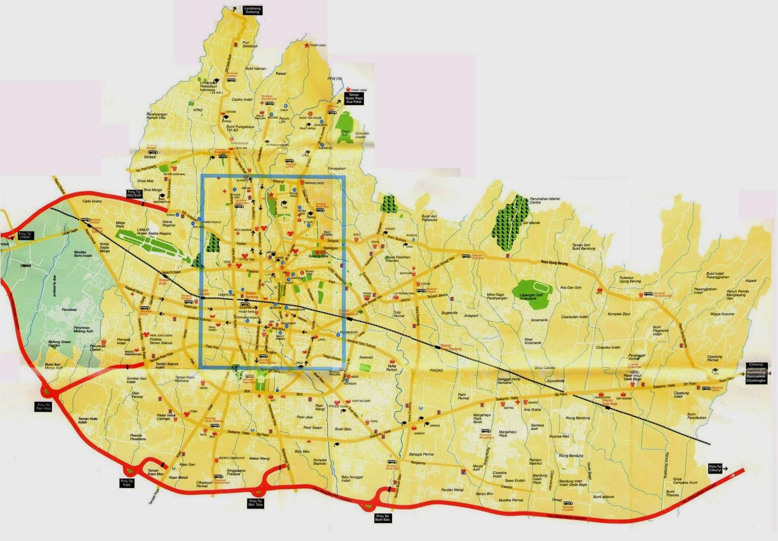 Peta bandung Utara, Bandung Kota, Peta bandung, Bandung Barat, bandung Selatan, bandung Raya, UPI