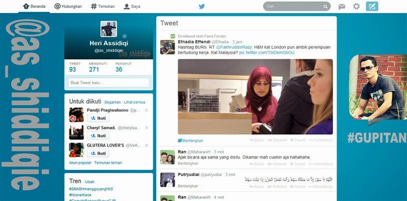Tampilan Baru Twitter Desktop 2014