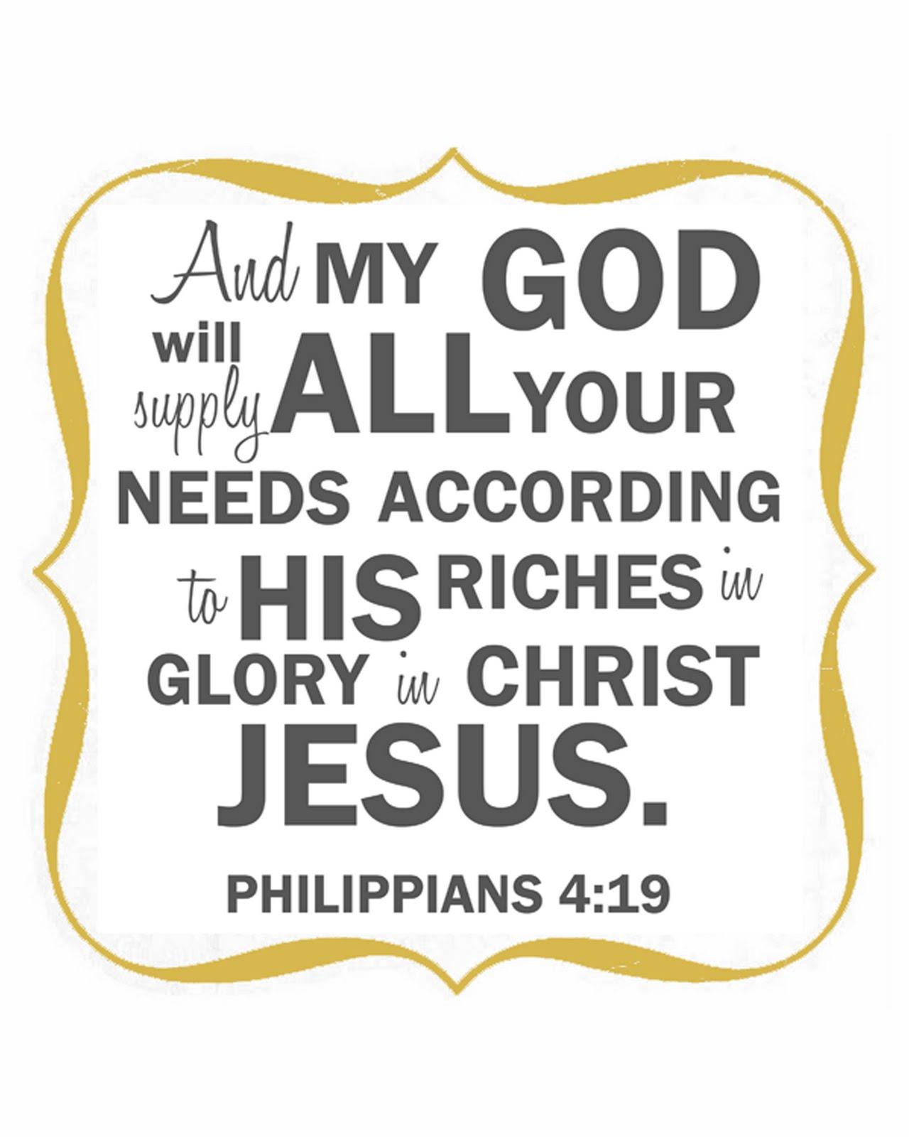 Philippians 4 19 20 Images