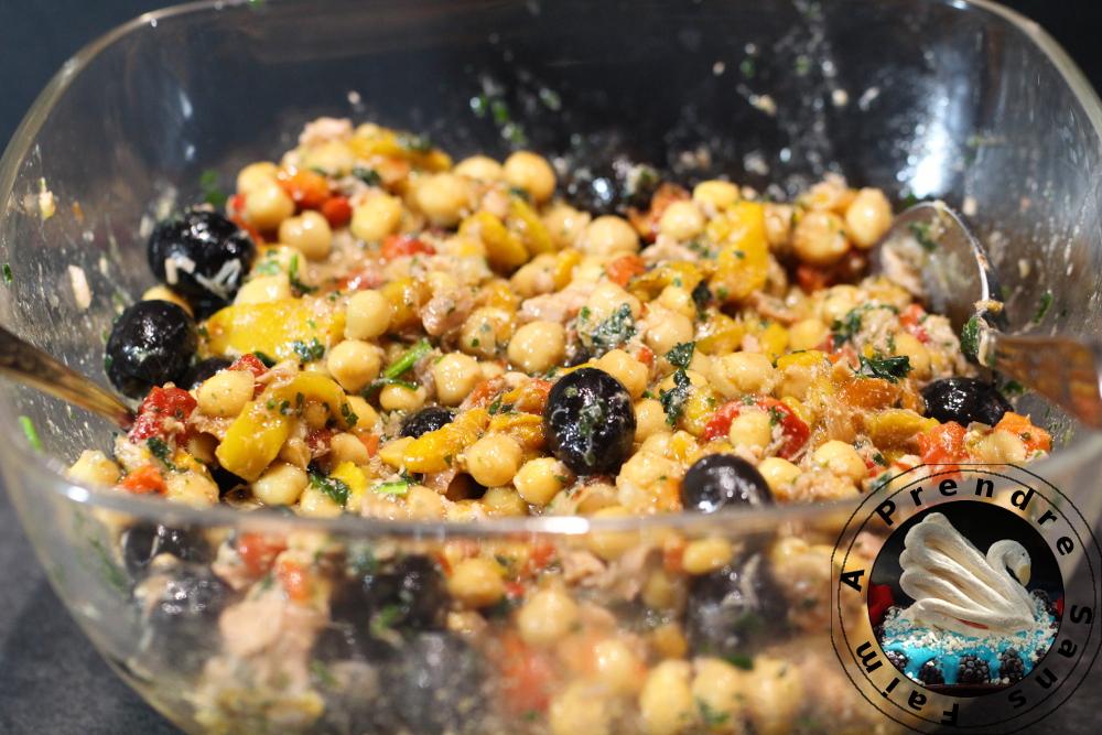 salade de pois chiches au thon a prendre sans faim