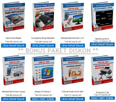 Bonus Utama yang didapatkan untuk setiap pembelian Paket Diskon Ebook Teknisi Komputer