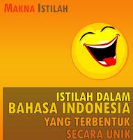 Istilah Dalam Bahasa Indonesia yang Terbentuk Secara Unik