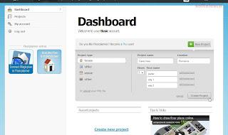 Proiectează-ţi casa online - Floorplanner - Dashboard