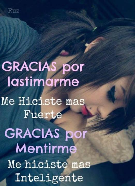 Imagenes y Frases Facebook: Gracias Por Lastimarme