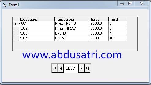 cara mudah menambahkan database pada program VB