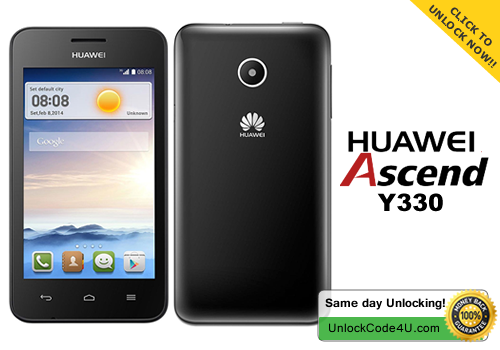 Factory Unlock Code for Huawei Ascend Y330