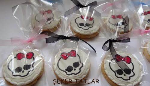 Monster Hıgh temalı butik kurabiye