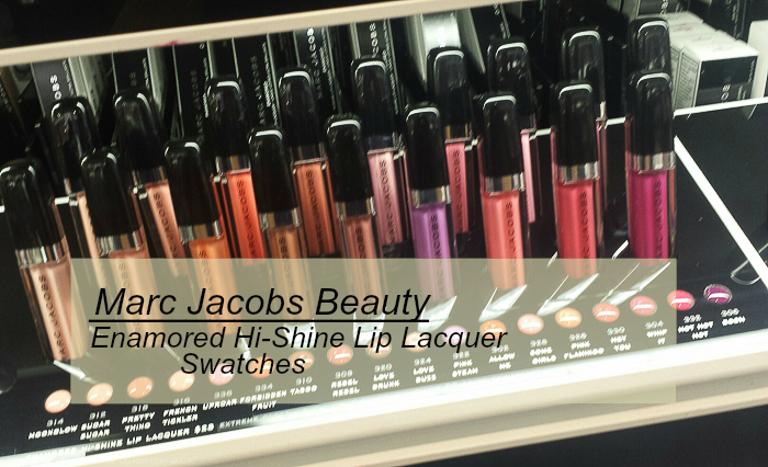 Marc Jacobs Beauty Enamored HiShine Lip Lacquers Lipgloss Swatches