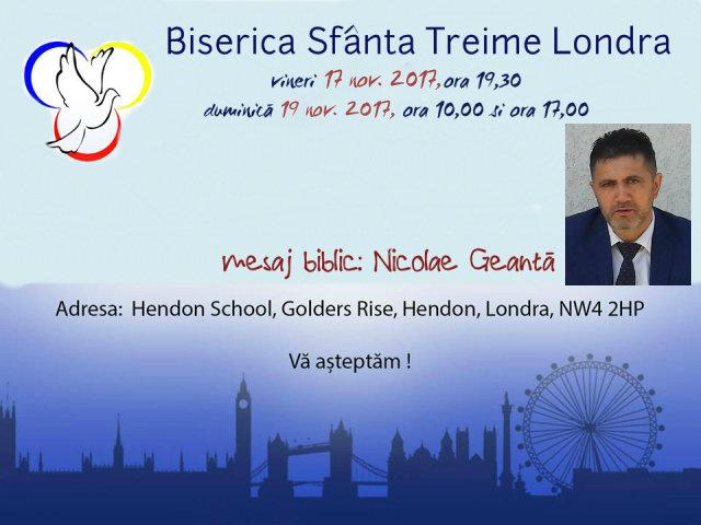Nicolae Geantă la Londra