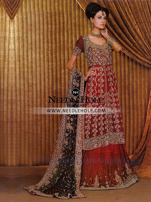 Classic Indian wedding lehenga choli dress for bride decorated ...