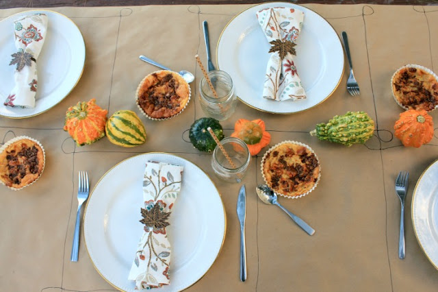 Simple & Rustic Thanksgiving or Friendsgiving tablescape #NestleHoliday #ad