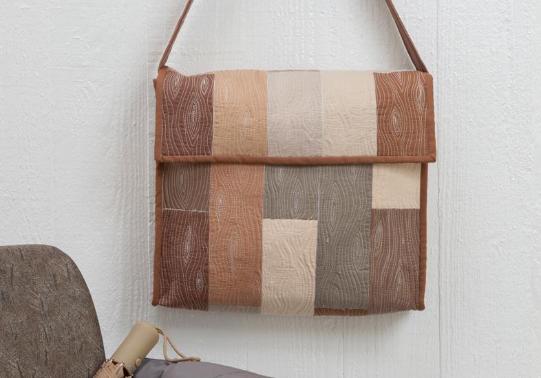 Wood grain free-motion quilting design