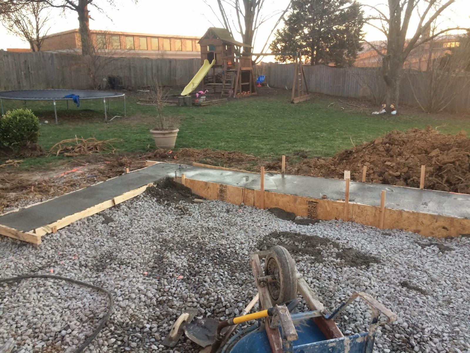 Как залить бетоном двор своими руками 400