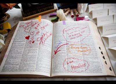 Vintage Dictionary Wedding Guestbook