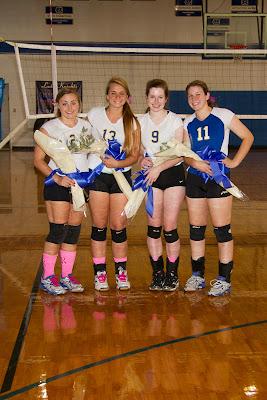 Montgomery Catholic honors Senior Volleyball Players October 15 1