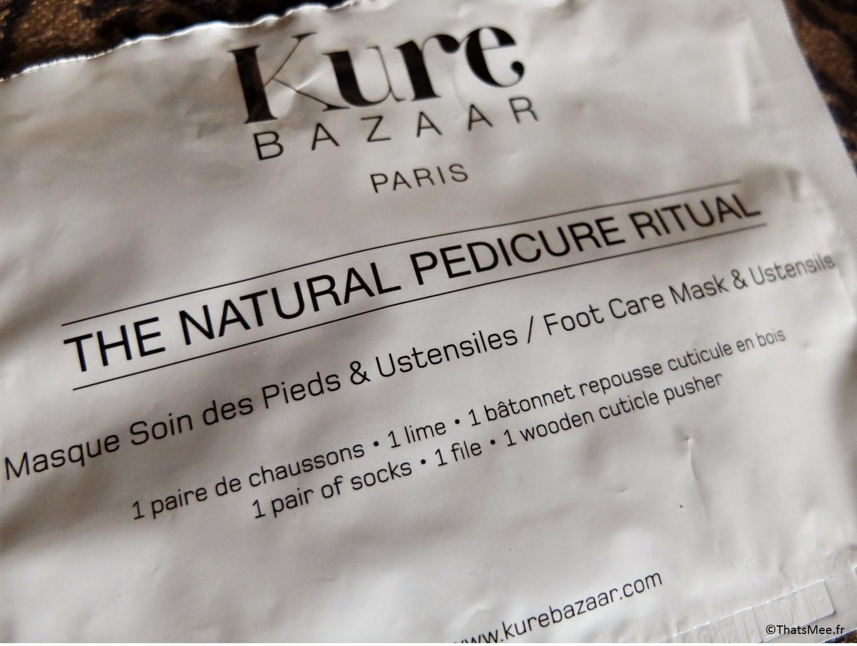 Rituel de Pedicure Naturelle Kure Bazaar  kit 6€ mademoiselle Bio contenu