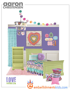 girls room mood board