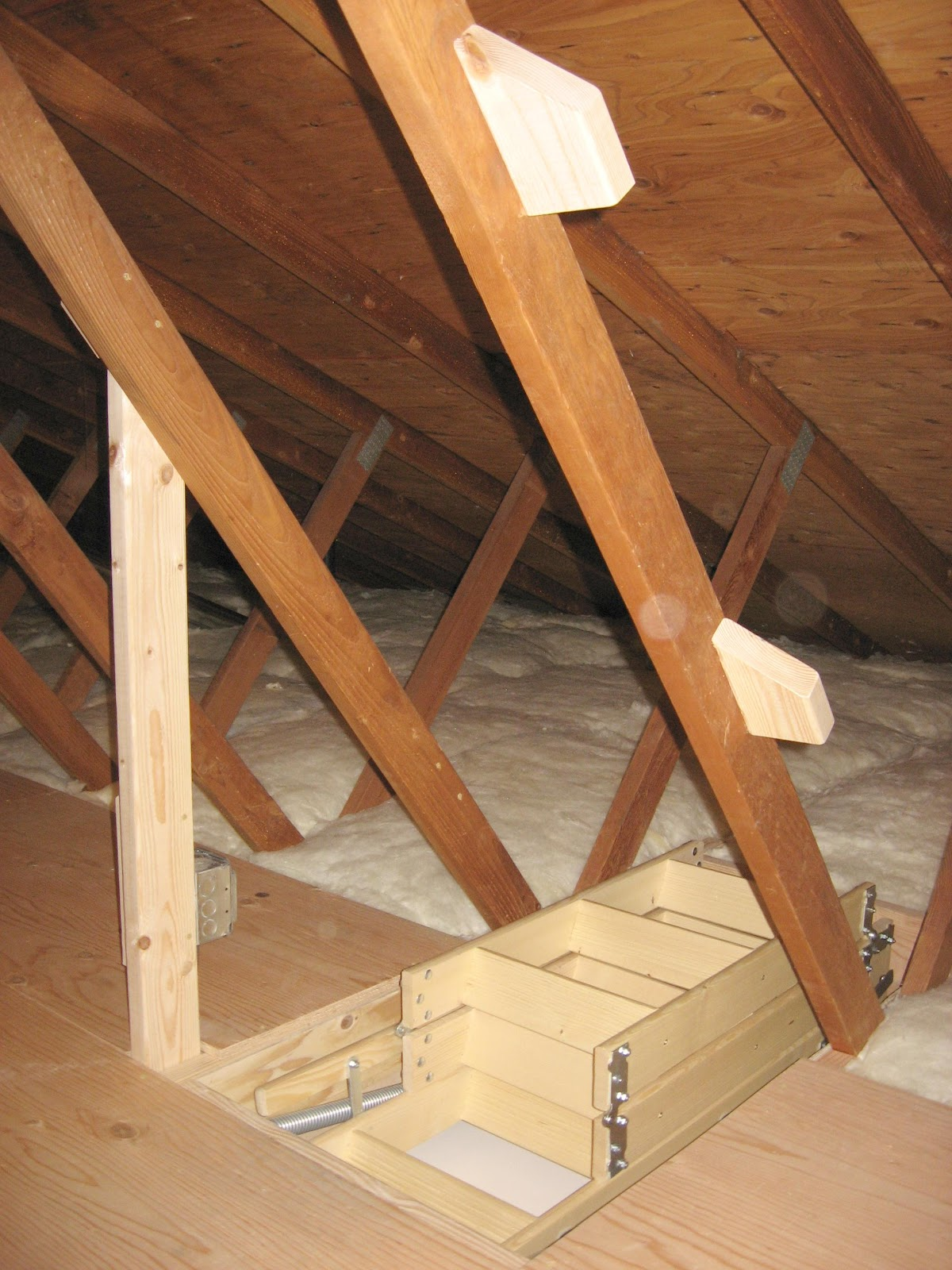install ladder pull stairs access in out easy door avid services llc inspection find attic down
