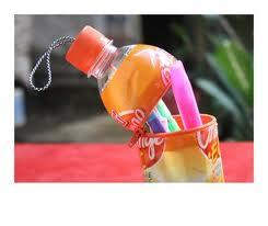Cara membuat tempat pensil cantik dari botol bekas air mineral