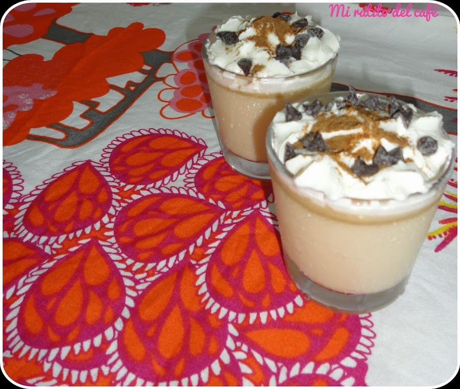 Flan de café y baileys