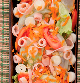 Salada crocante light