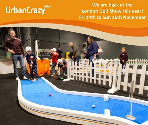 UrbanCrazy will be at the London Golf Show at Glow, Bluewater from Friday 14 to Sunday 16 November