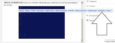 imagen propiedades de imagen en blogger