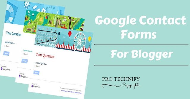 Google contact forms for blogger