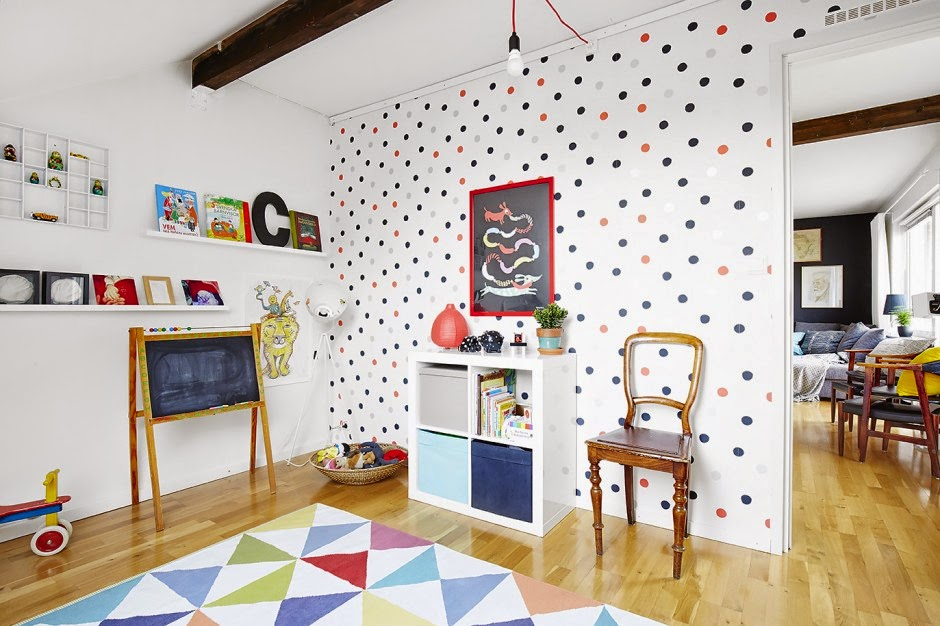 Interior casa con decoraci n n rdica for Decoracion nordica infantil