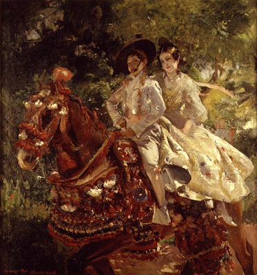 Duo de cavaliers sur un même cheval