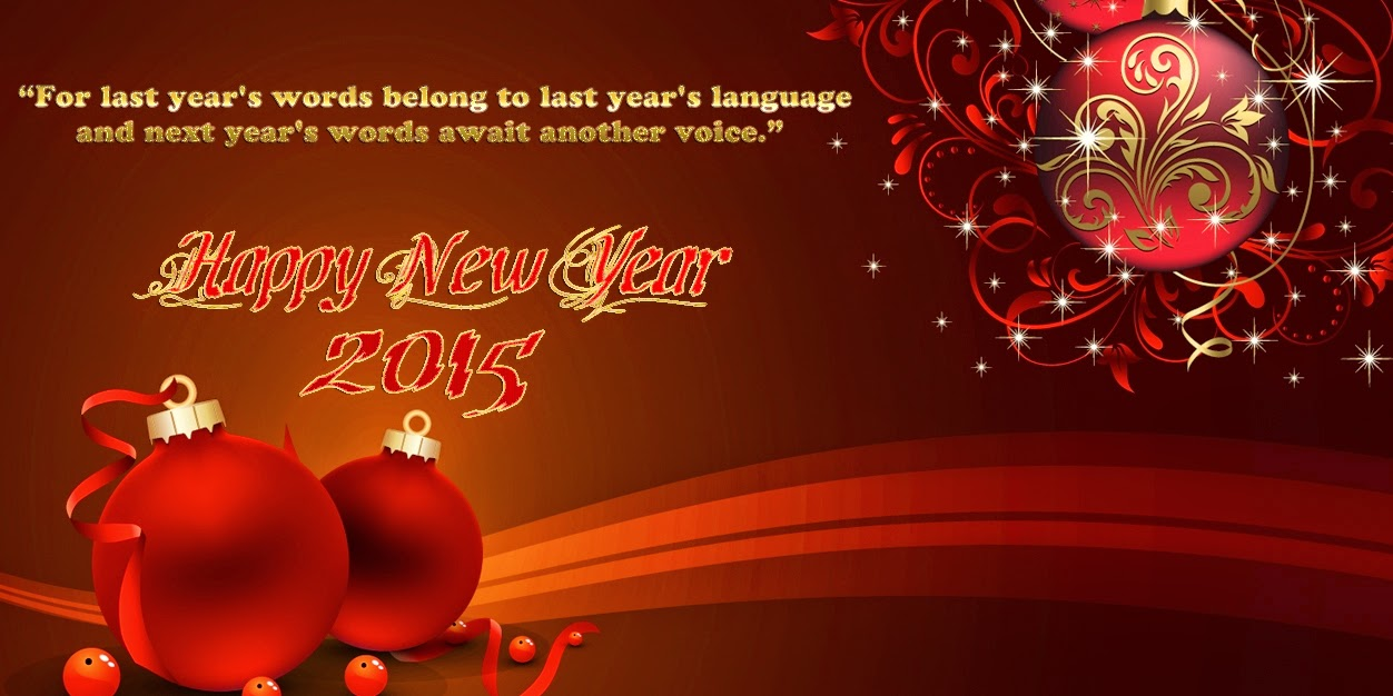 Lovely Happy New Year Wishes Cards 2015 Royalty Free Images