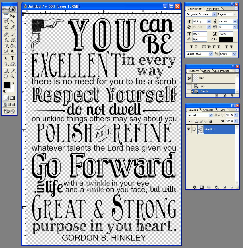 My creative process you can be excellent word art this is designed to be a 4x6 aspect ratio you can change up the colors of the background and text any way you want here is how you do it solutioingenieria Gallery