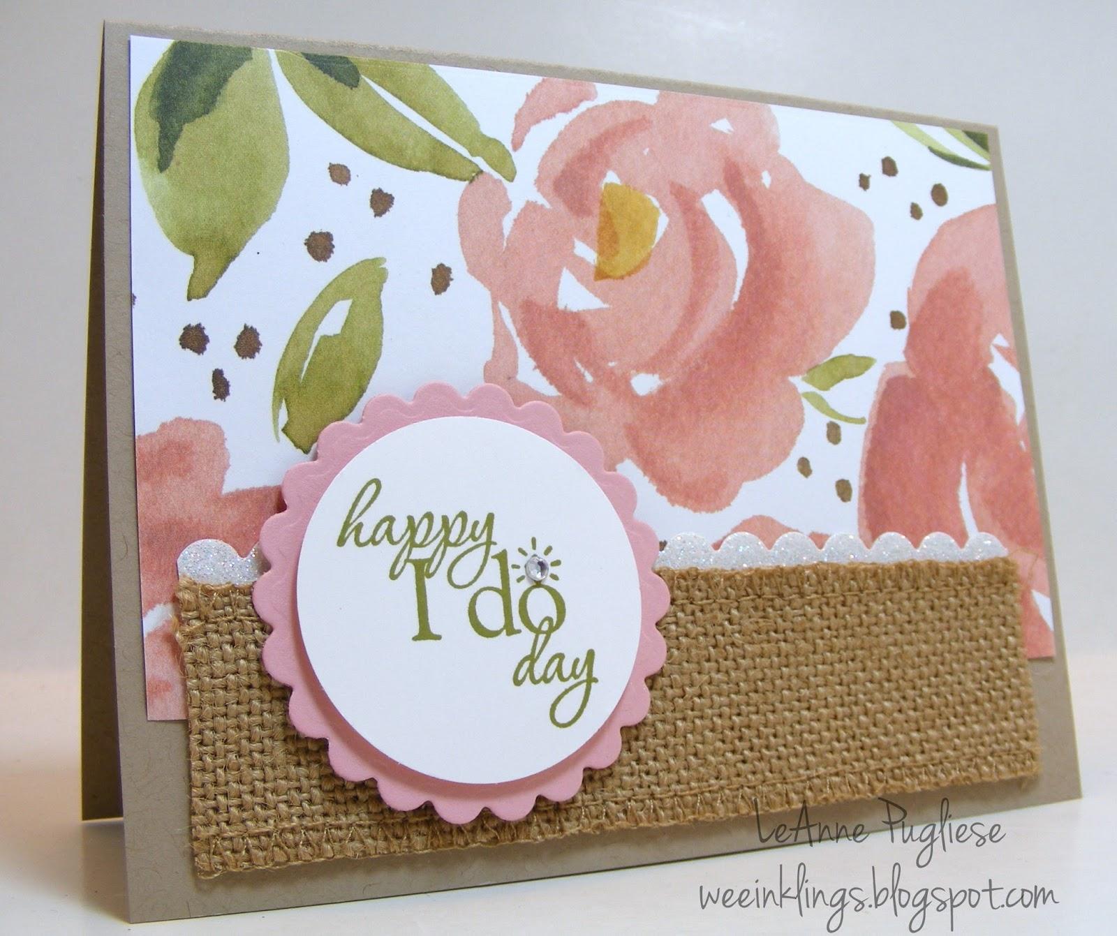 wee inklings: PPA282 CAS Wedding Card