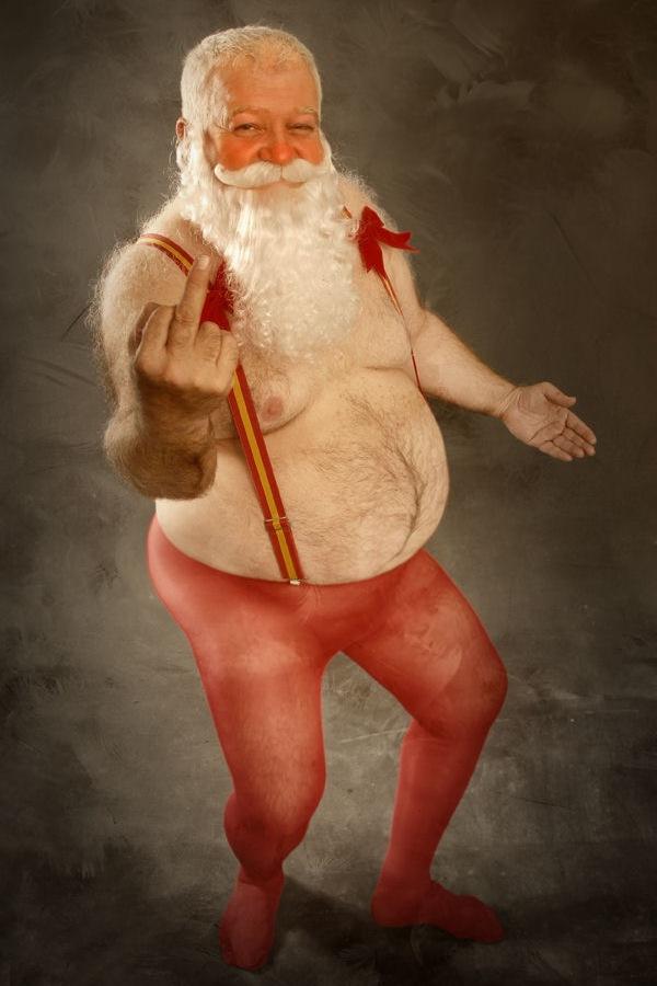 Julemanden med fuckfinger