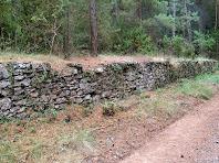 Mur de pedra seca a la Baga de Davant