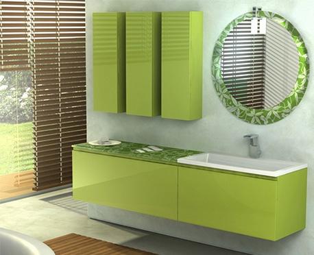 Design and furniture bamboo bathroom vanity modern duebi for Green italy