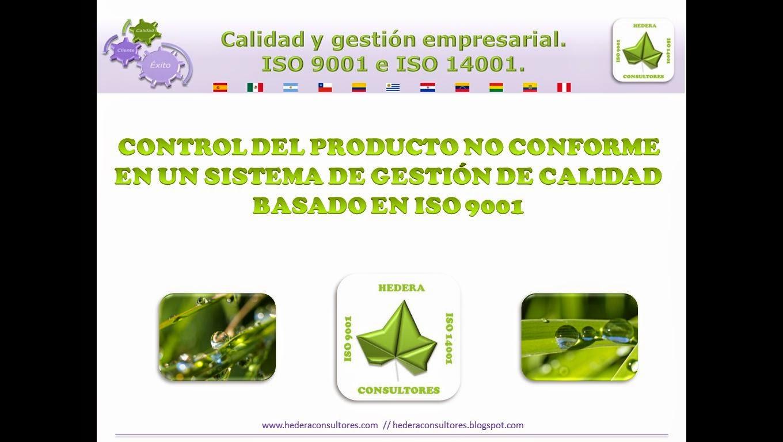 Producto no conforme ISO 9001