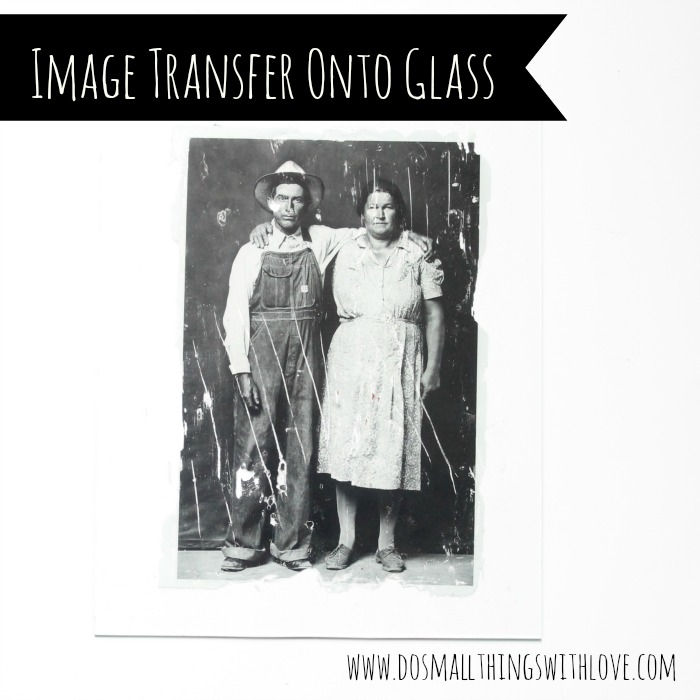 photo transfer onto glass do small things with great love
