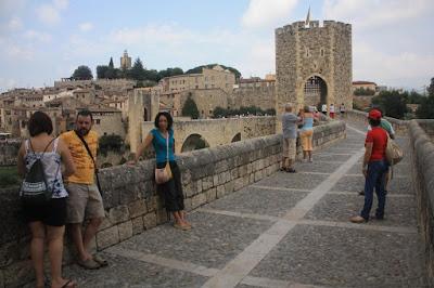 Medieval bridge in Besalú