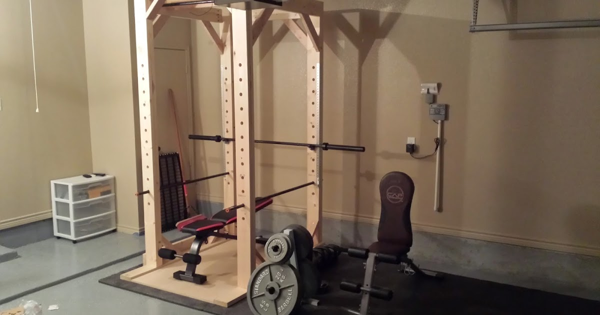 Diy woodworking easy to build power rack squat