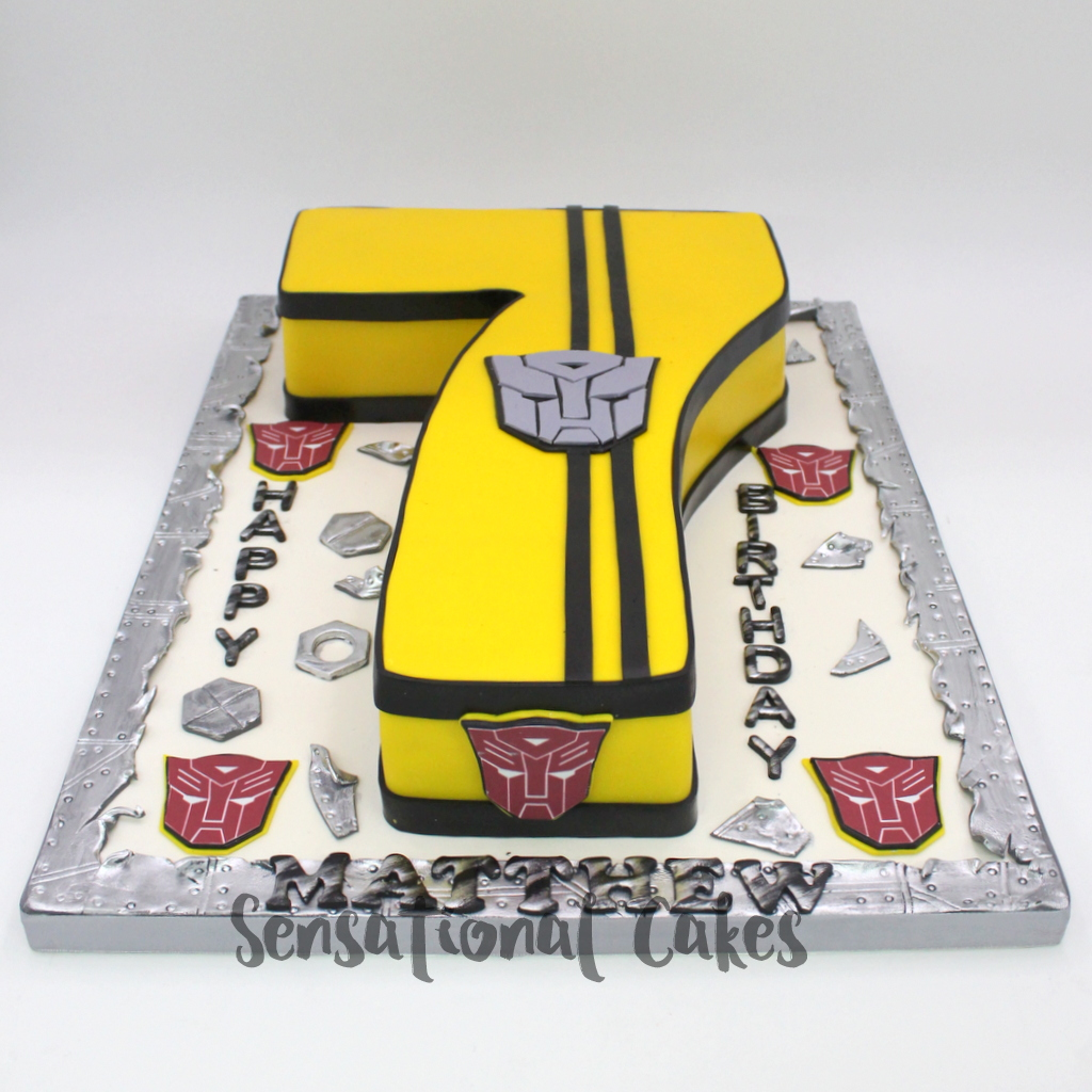 The Sensational Cakes Transformers For 7th Birthday Cake Singapore