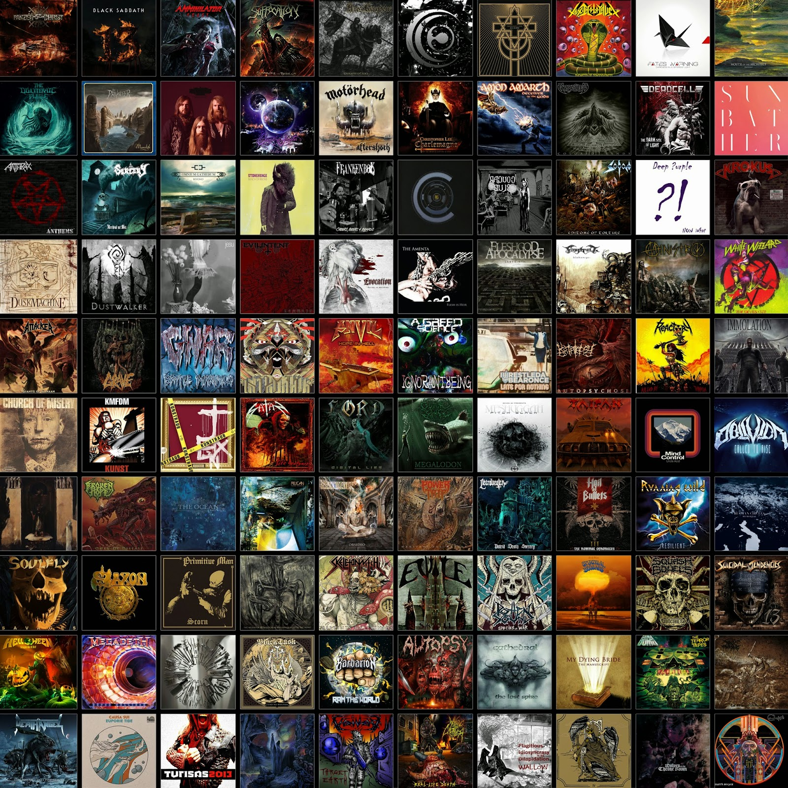 top 10 metal album of 2013